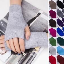 1 Pair Women Cashmere Fingerless Warm Winter Gloves Hand Wrist Warmer Mittens //