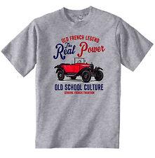 Vintage french voiture CITROEN 5CV Trèfle-Nouveau T-shirt en coton