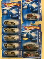 Lot of 8 Hot Wheels 2007 All Stars : Shift Kicker, Deuce Roadsters, and Invaders