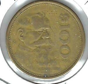 1984 Mexico 100 Pesos President Venustiano Carranza Coin!