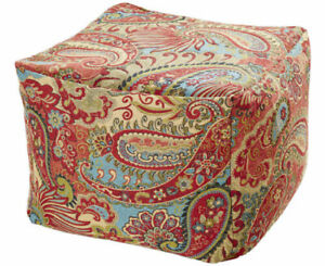 Large Bean Filled Pouffes / Cubes / Footstools / Beanbags - Soft Chenille Fabric