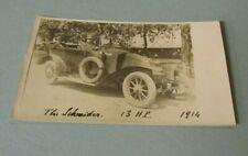 1914 Schneider 13 Horsepower Automobile Rppc Postcard French Car Manufacturer