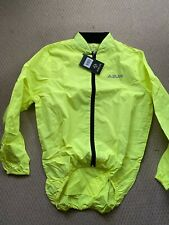 Azur Cycling Shower Jacket Medium Fluro Yellow