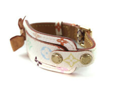 Authentic Louis Vuitton Multicolor Monogram Canvas Leather Bracelet Lb8777L