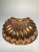Wear-Ever 6 Cups Sea Shell Copper Jello Cake Pan Mold Wall Hanging Decor