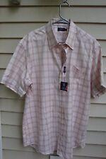 Lincs David Chu SZ L Mens 100% Egyptian Cotton Button Shirt