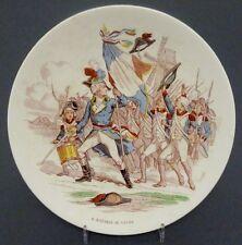 Wandteller 'Bataille de Valmy'  Saargemünd, Sarreguemines Keramik , um 1880