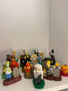 The Simpsons 2001 Burger King Halloween kids meal toys complete set 15 vintage