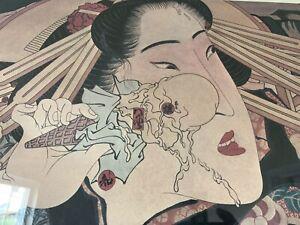 Vintage Masami Teraoka Whitney 1980 Museum Poster MID CENTURY Modern Art ERA