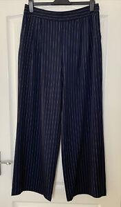 TU Navy Pinstripe Wide Leg Trousers Work Suit Formal Size 14 NEW