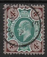 SG236a. 4d.Green & Chocolate Brown (Chalky). VFU With Neat CDS.  Ref:123