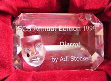 Swarovski Crystal 1999 Annual Edition Pierrot Title Plaque - Retired - Nib