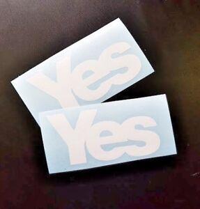 """Yes"" Scotland sticker x2"