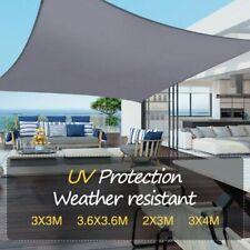Toldo de Vela Sombrilla Parasol Rectángulo Tejido de Poliester Jardín 2x3m 3x4m