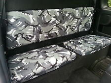 Toyota Hilux 2005-2016 Extra Cab Tailored Waterproof Grey Camo Rear Seat Covers