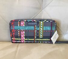 Vera Bradley Midtown RFID Wristlet in City Plaid With Faux Leather Strap