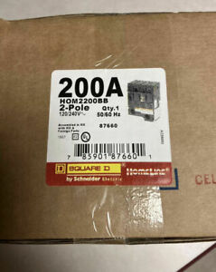 NEW Square D HOM2200BB 2p 200a HomeLine Branch Circuit Breaker NEW IN BOX