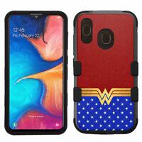 for Galaxy A20 / A30 Shockproof Rugged Impact Case Wonder Woman #STR