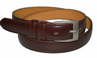 Men's Casual Brown Dress Leather Belt w/ Buckle New