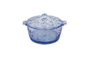 Glass Candy Dish with Lid Decorative Candy Bowl, Crystal Covered Storage Jar
