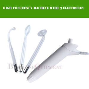 High Frequency Beauty Machine With 3 Electrodes Glass Tube SKin Spot Removal SPA