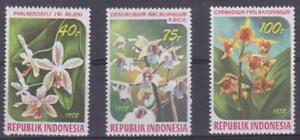 Indonesia 1978 #1036-38 Orchids - MH