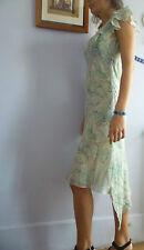 BCBG robe a volants asymétrique mousseline soie BCBG ruffled silk chiffon dress