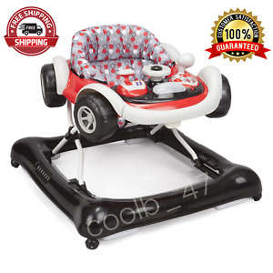 Little Drive Baby Activity Walker  with Electronic Tray Feed Play Table Black