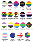 LGBT Asexual Bisexual Gay Pride Rainbow Pansexual Transgender Button Badge