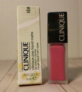 CLINIQUE POP Liquid Matte Lip Colour + Primer 06 PETAL POP Made in Italy BNIB