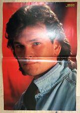 BRAVO POSTER Patrick Swayze Dirty Dancing - Billy Idol - 80er Jahre !!!