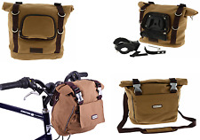 Dawes Quick Release Canvas Retro Cycling Handlebar & Shoulder Bike Bag 11l Khaki