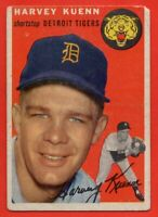 1954 Topps #25 Harvey Kuenn VG+ WRINKLE ROOKIE RC Detroit Tigers FREE SHIPPING