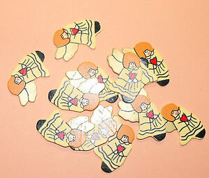 12 Flat Wooden Christmas Angel shapes Card Topper Embellishments