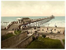 2 Victorian Views of Portobello beach and Pier Vintage Old Photos Pictures Print
