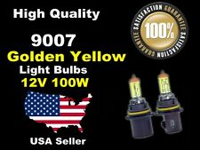 US Seller Xenon Gas Headlight Light Bulb-100w Golden Yellow 9007 High/Low Beam-A