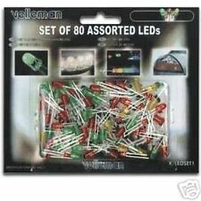 Velleman K/LED1 — Kit of 80 Assorted LEDs Red, Yellow, Green LED