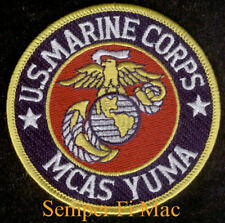 MCAS YUMA PATCH US MARINES AIR STATION USS FMF AV8 UH1 MV22 MAWTS1 3RD 4TH MAW