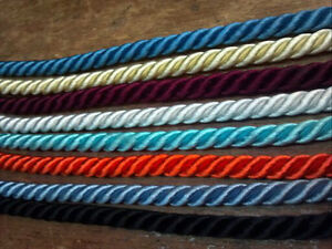 """Vintage Twisted Rayon Cord 1/4"""" Dyeable Cording 3 yds Made in Japan"""