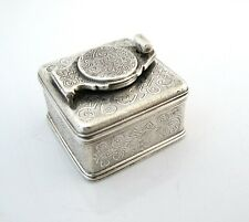 Beautiful silver travelling inkwell London c 1830