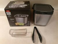 OXO Good Grips Double Wall Ice Bucket with Tongs (Pre-Owned, Has Damage)