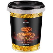PREMIUM OMEGA 3 FISH OIL - 250 KAPSELN / Fischöl - 1000mg + EPA DHA Vitamin E