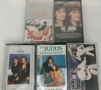 Lot of 5 The Judds Cassette Tapes-80's Classic Country-Why Not Me