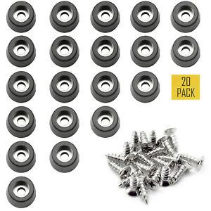 10Pcs Non-slip Rubber Feet Protector Pads Furniture Instrument Case Bumper n Nz