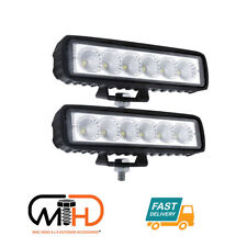 Pair 6 inch Work Lights CREE Spot Flood LED Light Bar Reverse 4WD 12V 24V Spread