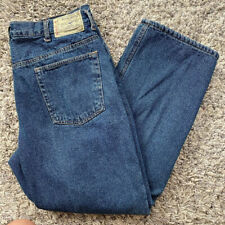 Mens Redhead lined warm denim blue jeans size 38x30