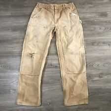 Vintage Carhartt Double Knee Canvas Work Pants Jeans Distressed Wip Crazy Fade