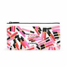 CHANEL Coco Rouge Gloss Clear see-through Makeup Cosmetic Bag / Pouch, New!