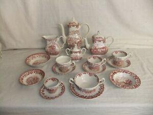c4 Pottery Myott & Meakin - Country Life - tea coffee pot cup saucer bowl 1B4C