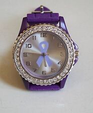 Pancreatic cancer Awareness Purple Ribbon (also symbol for Alzheimer's) Watch